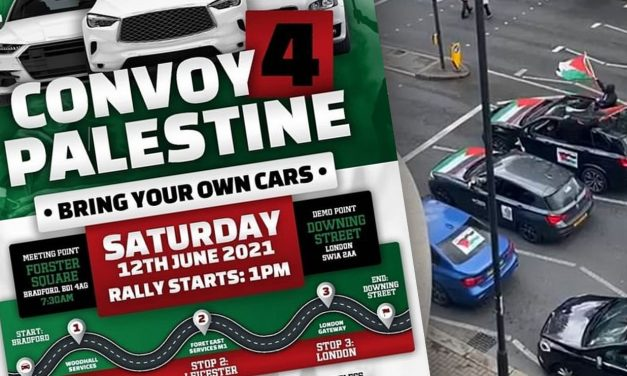 Palestinian 'convoy of hate' to arrive in London this weekend