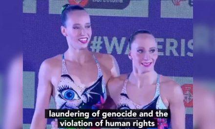 As Israeli swimmers celebrate score, Spanish TV presenter accuses Israel of 'genocide'