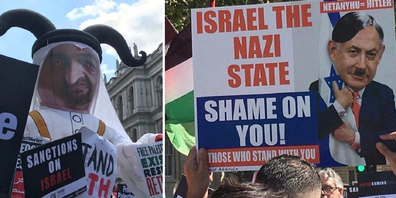 UK: Anti-Semitism on display at London anti-Israel protest