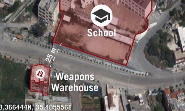 IDF: Hezbollah has built weapons depot 25 metres from school in Lebanon