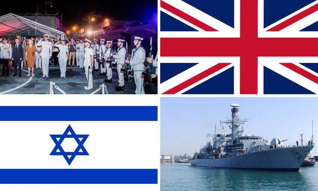 HMS Richmond docks in Israel, hosts event promoting UK-Israel defence partnership