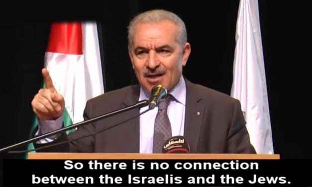 Palestinian PM says Israelis have 'no connection' to 'real Jews'