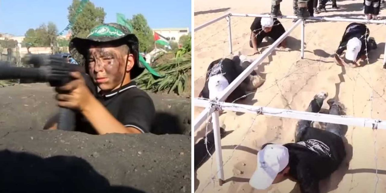 Watch: Palestinian children undergo military-style training at Hamas and Islamic Jihad camps