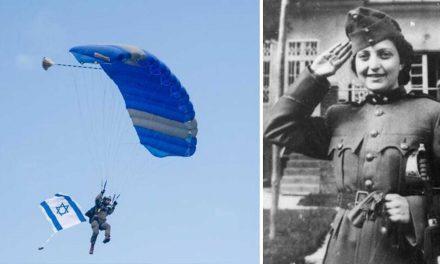 100 Israeli paratroopers skydive in Slovenia to honour World War II heroine