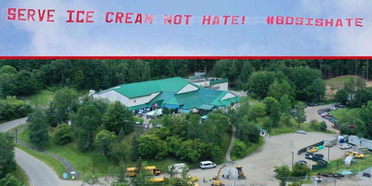 'Serve Ice Cream, Not Hate' – plane flies anti-BDS message over Ben & Jerry's headquarters
