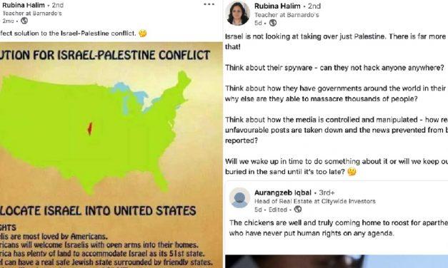 Barnado's charity suspends teacher over antisemitic social media posts