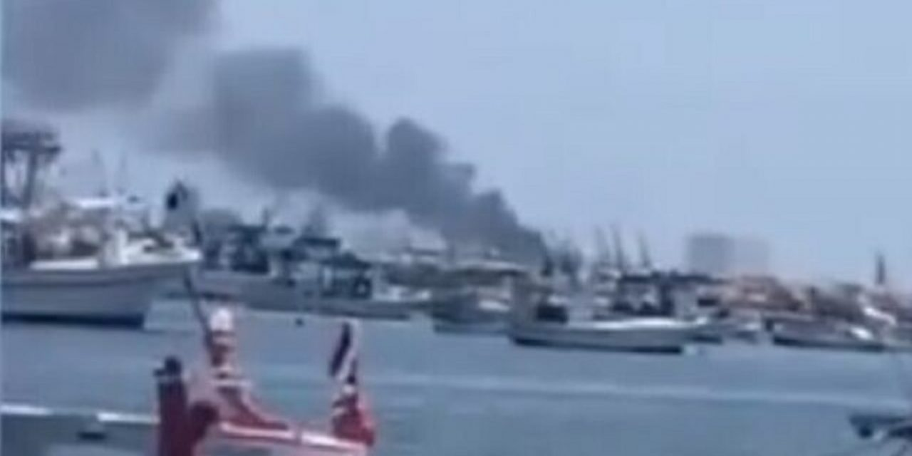 Explosion on suspected Iranian ship at Syria's Latakia port