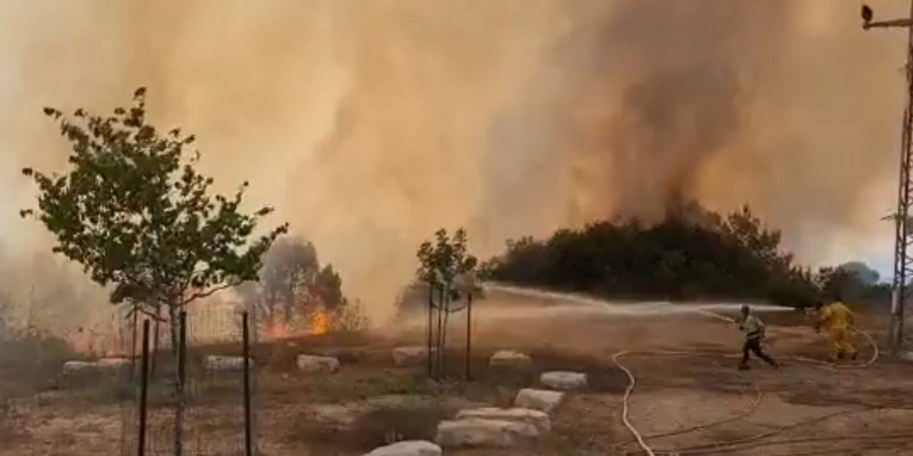 Hamas arson balloons set fire to two nature reserves in Israel
