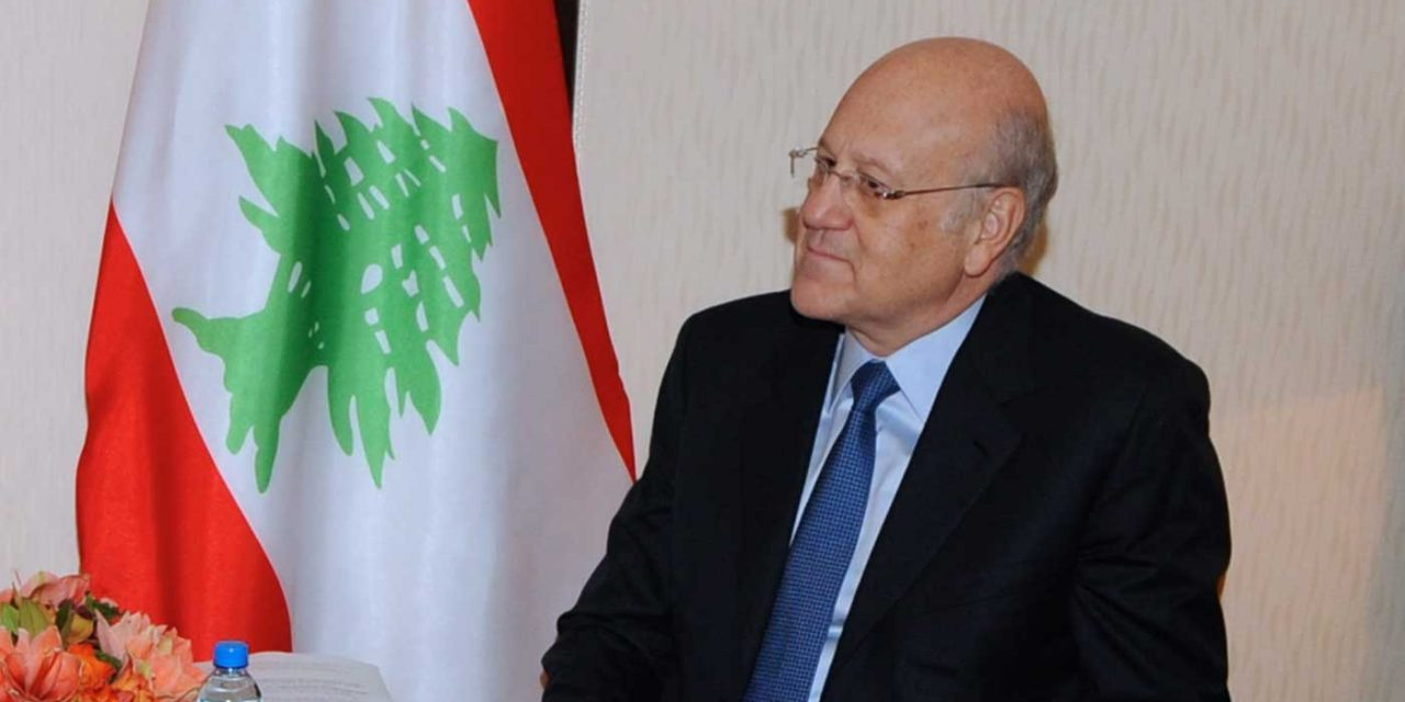 """Lebanon's new prime minister says he will cooperate with anyone """"except Israel of course"""""""