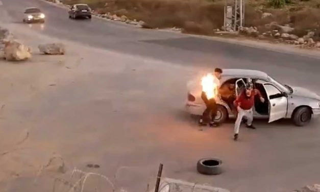 Whoops! Palestinian terrorist accidentally sets himself on fire