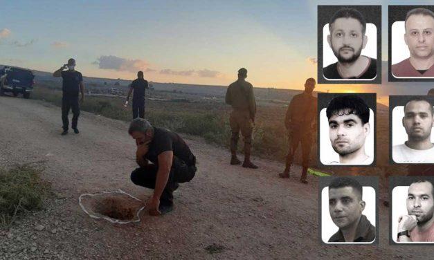 Manhunt underway as six Palestinian terrorists escape Israeli prison