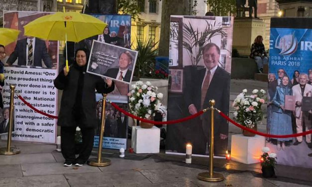 Iranians who oppose regime offer condolences for Sir David Amess